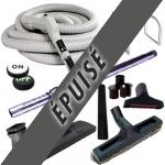 Set 8 accessoires + 1 flexible 12 m Plastiflex avec bouton marche/arrêt