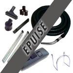 Set 7 accessoires + 1 flexible standard noir et gris 8m