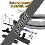 Set 8 accessoires + 1 flexible 10 m Universel avec bouton marche/arrêt