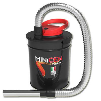 Bidon vide cendres MINICEN à moteur électrique 800W, 10L pour aspirer les cendres froides des cheminées, des poêles à bois ou à granulés