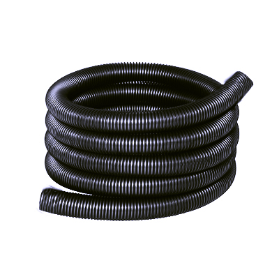 Flexible aspiration centralisée nu noir et gris de 20 mètres