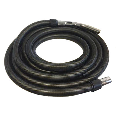 Flexible noir de 9m de long pour aspiration centralisée - Compatible toutes marques