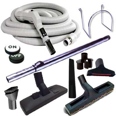 Set 8 accessoires + 1 flexible 9 m Plastiflex avec bouton marche/arrêt