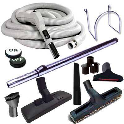 Set 8 accessoires + 1 flexible 15 m Plastiflex avec bouton marche/arrêt