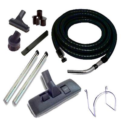 Set 7 accessoires + 1 flexible standard noir et gris 10m