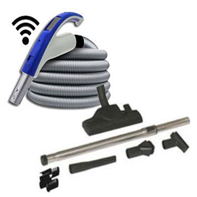 Set de nettoyage 6 accessoires + 1 flexible 9m avec poignée marche/arrêt à télécommande intégrée 915 (Émetteur seul)