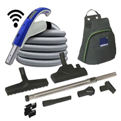 Set de nettoyage 8 accessoires + 1 flexible 8m avec poignée marche/arrêt à télécommande intégrée 915 (Émetteur seul)