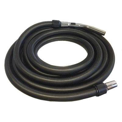 Flexible noir de 15 m de long pour aspiration centralisée - Compatible toutes marques