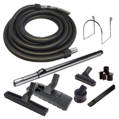 Set 8 accessoires + 1 flexible de 14 m standard noir et gris