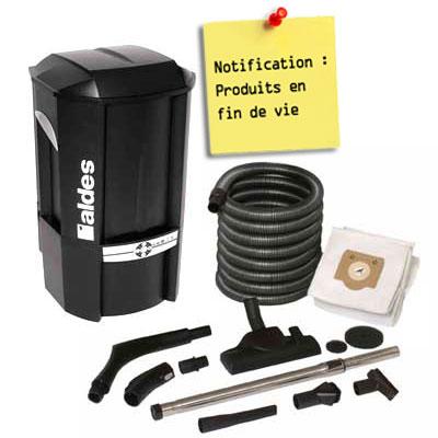 aspirateur centralisée ALDES pack C. Cleaner Garantie 2 ANS (jusqu'à 200 m²) + set de nettoyage Réf: 11071100