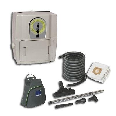 aspirateur central ALDES Pack C. Smaller filaire GARANTIE 2 ANS (jusqu'à 180 m²) + set de nettoyage