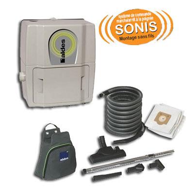aspirateur central ALDES Pack C. Smaller systéme de commande sans fils GARANTIE 2 ANS (jusqu'à 180 m²) + set de nettoyage