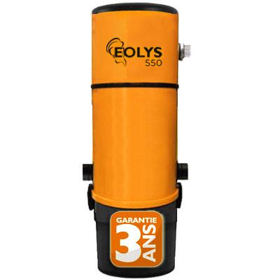 Aspiration centralisée EOLYS 550 GARANTIE 3 ANS (jusqu'à 500 m²) Filtration hybride (avec ou sans sac)
