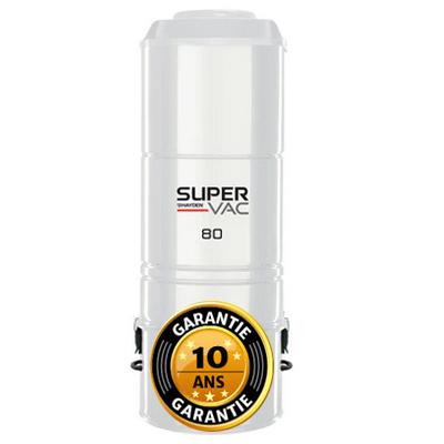 Aspirateur central hybride HAYDEN SuperVac 80 GARANTIE 10 ANS (jusqu'à 500 m²)