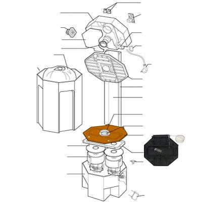 Fermeture capot moteur Centrale Axpir, ALDES 11070338