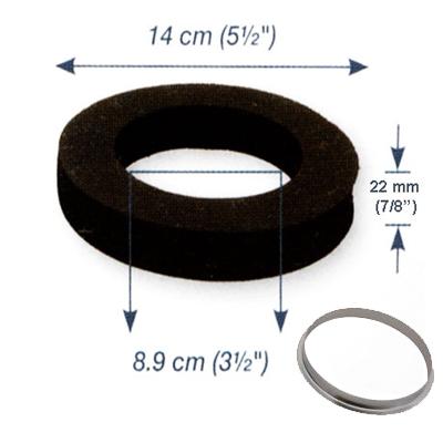 Joint mousse 14 X 8,9 x 2,2 et rondelle métallique pour centrale HD 800