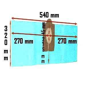 Pochette de 3 Sacs filtre papier pour centrale d aspiration Trema TF251 et TF255