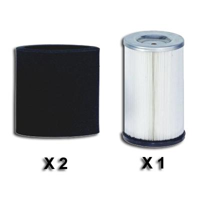 Lot de 2 pré-filtres VCI + 1 Filtre VCI