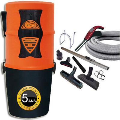 Aspiration centralisée EOLYS 22 à variateur de vitesse GARANTIE 5 ANS (jusqu'à 500 m²) Filtration hybride (avec ou sans sac) + trousse à variateur 9 M + 8 accessoires + Aspi-Plumeau