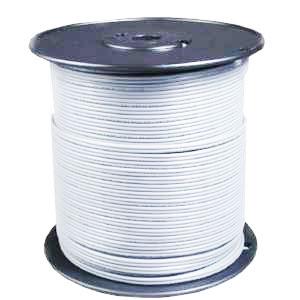 Fil basse tension blanc bobine de 100 ml