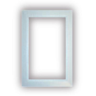 Finition blanche pour Prise murale rectangulaire porte ronde