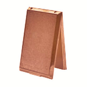 Prise métal porte pleine bronze