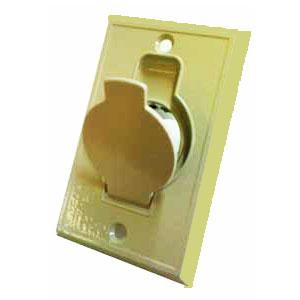 Prise métal porte ronde ivoire