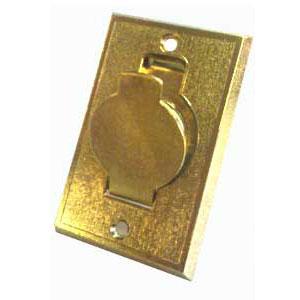 prise métal porte ronde laiton