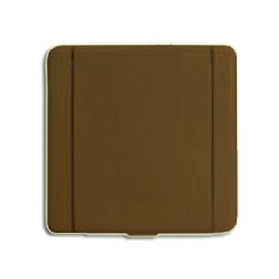 Prise métal Europe carrée marron