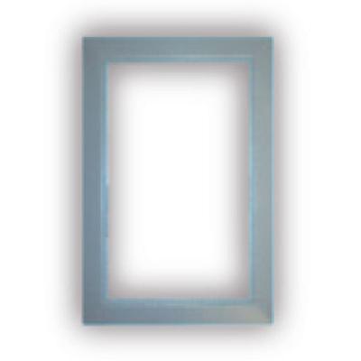 Finition gris clair pour Prise murale porte ronde rectangulaire