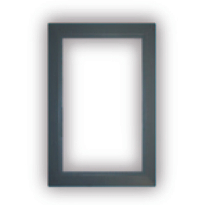 Finition gris fonce pour Prise murale porte ronde rectangulaire