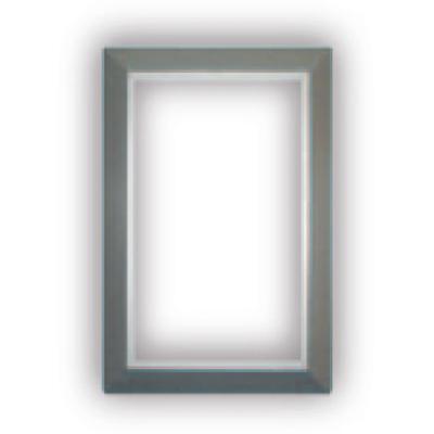 Finition silver pour Prise murale porte ronde rectangulaire