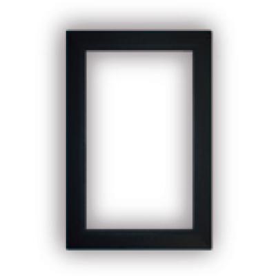 Finition noir pour Prise murale porte ronde rectangulaire