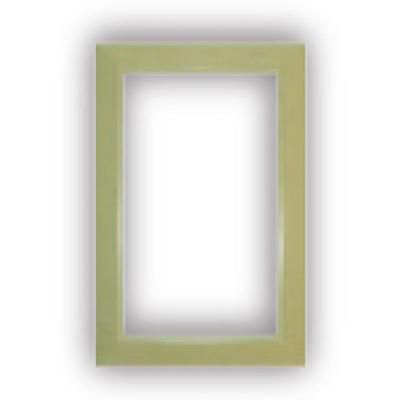 Finition ivoire pour Prise murale porte ronde rectangulaire