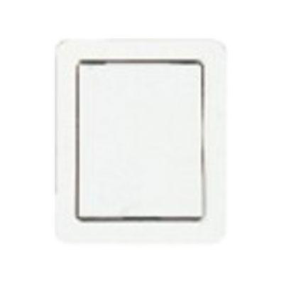 Prise en acier inoxydable plate blanche
