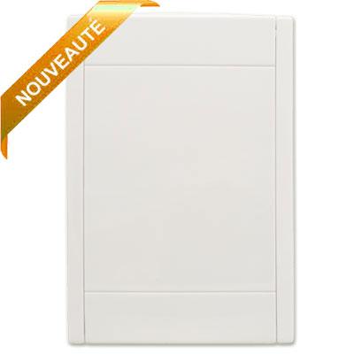 Prise murale blanche Rétraflex nouvelle génération, 20% plus petit que le premier modèle!