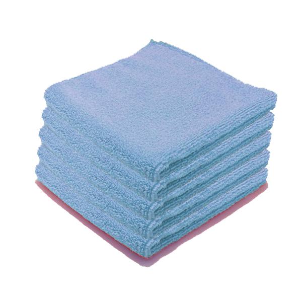 Microfibre Luxe entretien courant bleue par 5