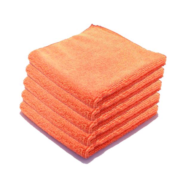 Microfibre Luxe entretien courant orange par 5