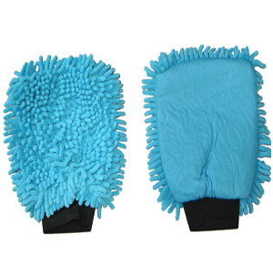 Gant microfibre bleue 2 en 1