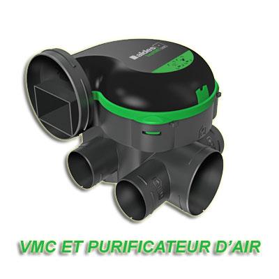 ALDES-Groupe seul EasyHome PureAir classic. Fonction ventilation et purification d'air,à installer en combles perdus