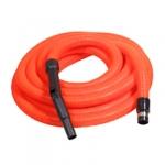 Flexible aspiration centralisée garage orange de 18 m