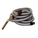 Flexible gris de 9m de long + rallonge de 3m pour aspiration centralisée - Compatible toutes marques