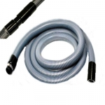 Flexible aspiration centralisée standard gris de 7 m + 1 rallonge 3 m