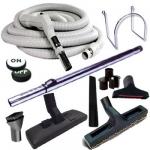 Set 8 accessoires + 1 flexible 10 m Plastiflex avec bouton marche/arrêt