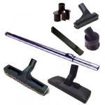 Set 7 accessoires RETRAFLEX (1 Brosse combinée, 1 Brosse sol dur 300 mm, 1 Canne télescopique Chromé perforée + 1 sac de 4 accessoires)