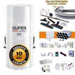 Aspirateur central hybride HAYDEN SuperVac 50 GARANTIE 10 ANS (jusqu'à 250 m²) + trousse inter 9 ML + 8 accessoires + kit 3 prises + kit prise balai + kit prise garage