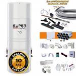 Aspirateur central hybride HAYDEN SuperVac 70 GARANTIE 10 ANS (jusqu'à 350 m²) + trousse inter 9 ML + 8 accessoires + kit 3 prises + kit prise balai + kit prise garage