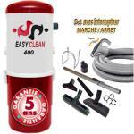 Aspiration centralisée EASY-CLEAN 400 garantie 5 ans (jusqu'à 350 M²) + Set inter 9 M + 8 accessoires + 1 Aspi-plumeau offert