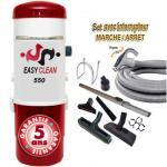Aspiration centralisée EASY-CLEAN 550 garantie 5 ans (jusqu'à 500 M²) + Set inter 9 M + 8 accessoires + 1 Aspi-plumeau offert