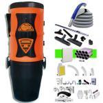 Aspiration centralisée EOLYS 6 garantie 5 ans + Set 9 m RETRAFLEX + 7 accessoires + kit 1 prise RETRAFLEX + kit prise balai (rayon d'action 90 m2)